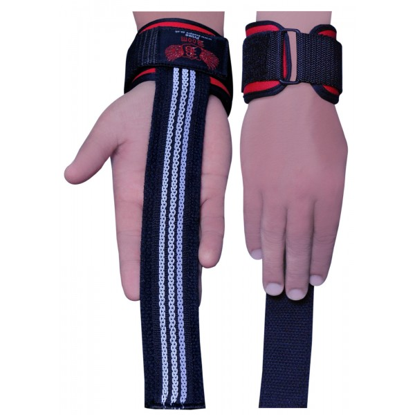 BOOM Padded Wrist Wraps Weight Lifting Training Neoprene Gym Straps Support Grip